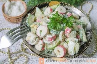 Салати с раци и краставици