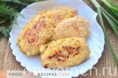 Côtelettes de poulet avec du chou au four