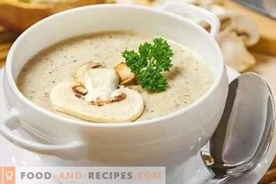 Кремообразна супа за шампиньони