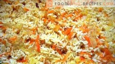Ориз с моркови и лук