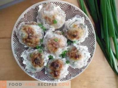 Таралежи от мляно месо с ориз