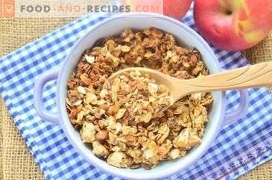 Ябълков мюсли с фъстъци