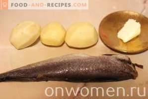 Хек, запечен в пещ с картофи