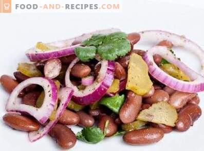 Салати с консервирани червени зърна