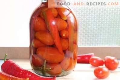 Мариновани домати с чушки