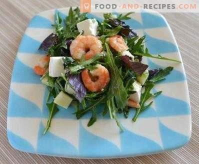 Салати със скариди и рукола