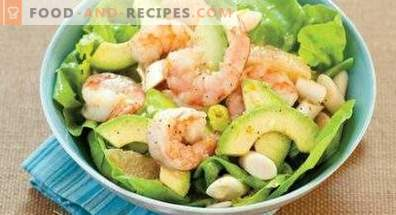 Салати с авокадо и скариди