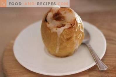 Запечени ябълки със захар във фурната