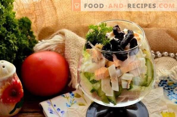 Дама Каприз салата с пиле и сливи