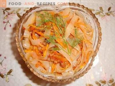 Фунчоза с месо и зеленчуци