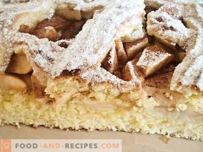Пай с ябълки от тесто от маслено тесто