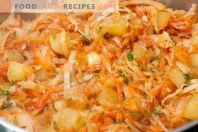 Растително ястие със зеле и картофи