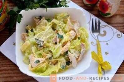 Салати с китайско зеле и пиле