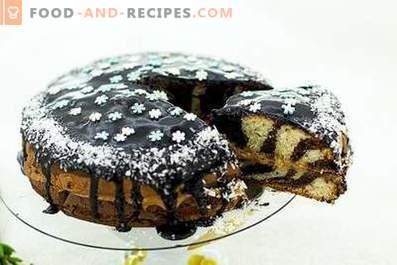 Зебра торта със заквасена сметана