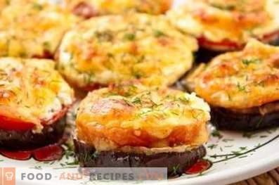 Патладжан, печен във фурна с домати и сирене