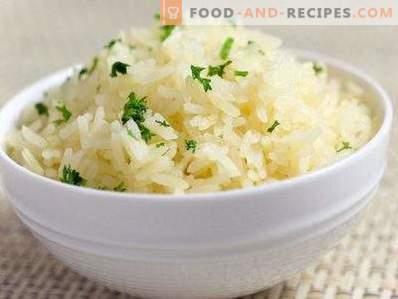 Натрошен ориз за гарнитура