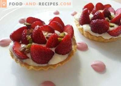 Tartlets with a sweet filling