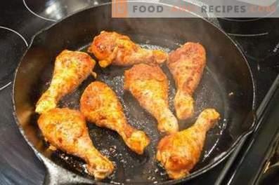 Пилешки пръчици в тенджера