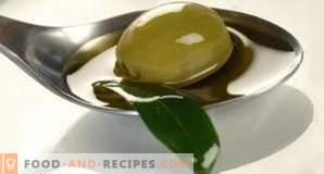 Калорично съдържание на маслиново масло