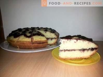 Майонезна торта с конфитюр в бавно печка