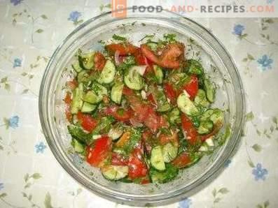 Салати с домати и краставици