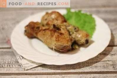 Пилешки бутчета, мариновани в киви