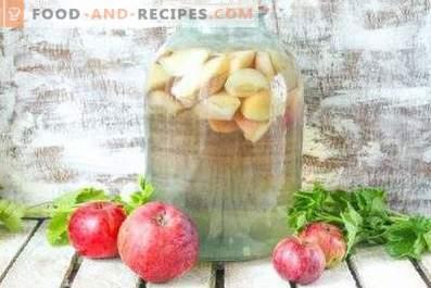 Компот от ябълки за зимата