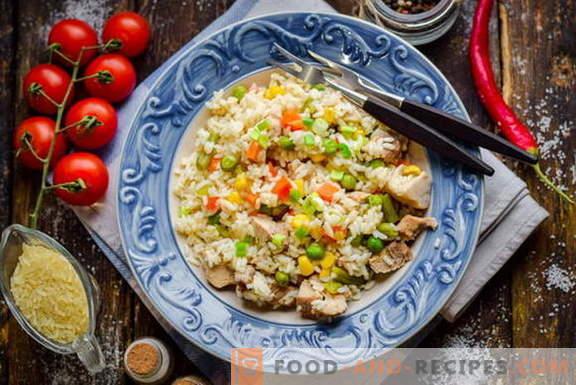 Бърз пилаф с месо и зеленчуци