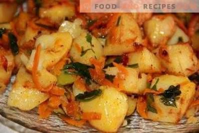 Картофи, задушени със зеленчуци