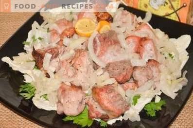 Свинско кебап във фурната за два часа