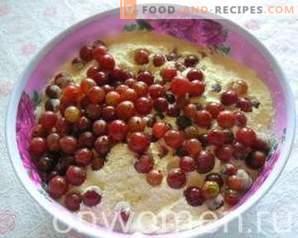 Кекс от цариградско грозде с шоколадов крем и кокосов чипс