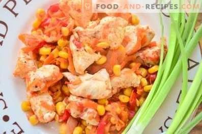 Мексиканско пиле със зеленчуци