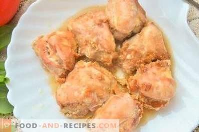 Hähnchen in Sahne und Sojasauce im Ofen