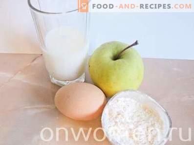 Ябълкови палачинки с мляко