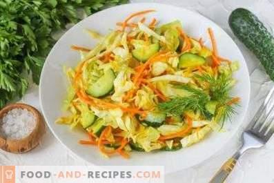 Салати със зеле и пресни краставици