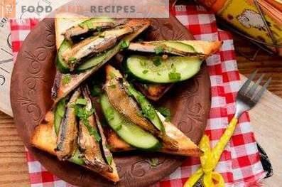 Сандвичи с краставици и краставици