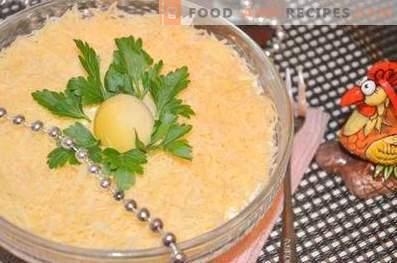 Слоеста салата с сардина а ла Мимоза
