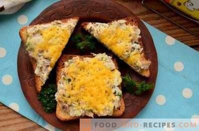 Сандвичи със саури във фурната