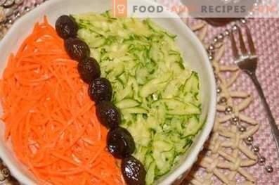 Слоеста салата с говеждо и зеленчуци