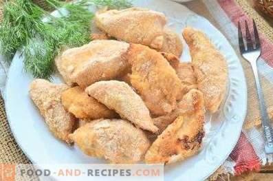 Пилешки гърди, печени в галета
