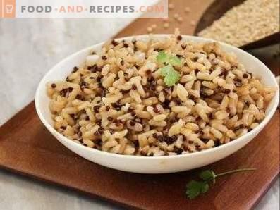 Как да се готви кафяв ориз за гарнитура