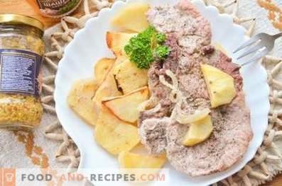 Свинско на възглавница за картофи във фурната
