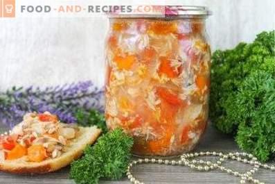 Скумрия със зеленчуци за зимата