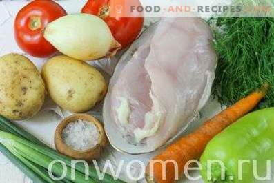 Растително ястие с пилешко филе