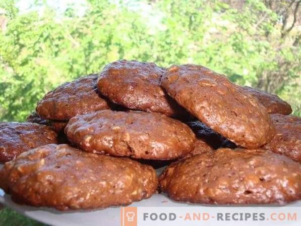 Бисквити от шоколадова овесена каша