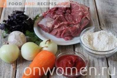 Гюле от говеждо и сос