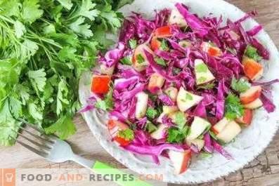 Салати от червено зеле