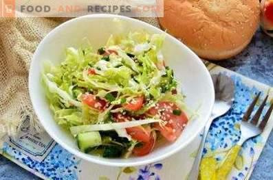 Салати от прясно зеле