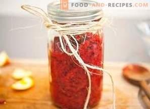Ядки от червени боровинки с портокал