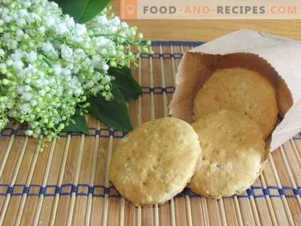 Бисквити с овесени ядки с кокосов чипс